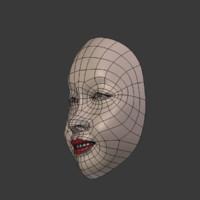 blend asian mask