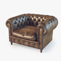 chester armchair 3d model