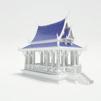3d model pavilion architecture