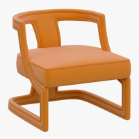 3d brabbu batak armchair model