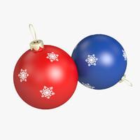 3d christmas balls