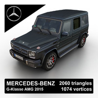 3d model 2015 mercedes-benz g-klasse amg