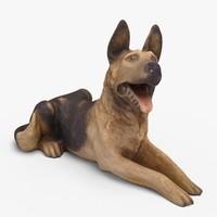 dog decor 3d model