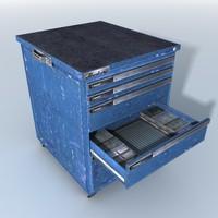 medium tool cabinet obj