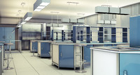 3d interior scientific laboratory model