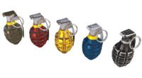 mk2 granade 3d 3ds
