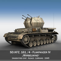 3d model german flakpanzer - wirbelwind