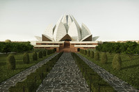 3d model baha house worship