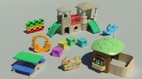 3d model toys playgrounds