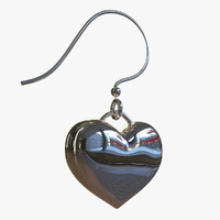 3d earring heart model