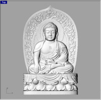 buddha china relief style 3d obj