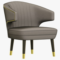 3d brabbu ibis armchair model