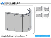 3DMD Railing Post on Panel C V1.2
