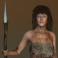 3d max laura jungle girl -