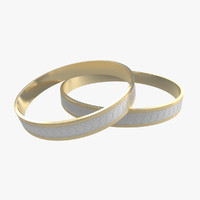 3d model wedding rings