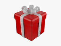 3d gift package model