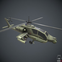 Apache Helicopter - Low Poly Game Ready