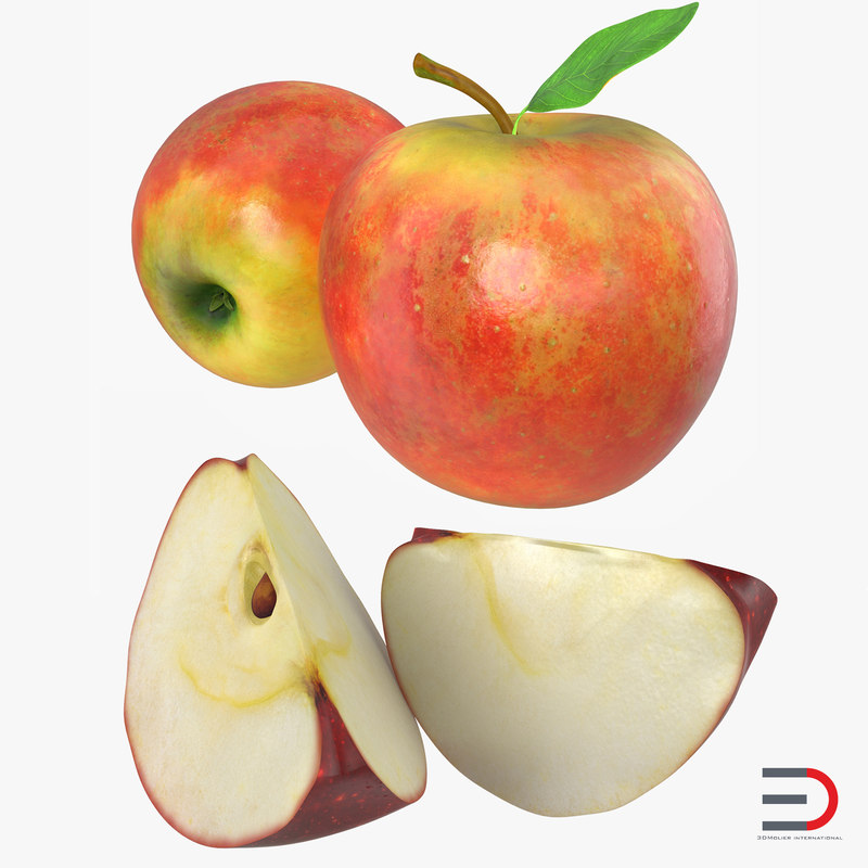 Apple Fruits Collection 3d models 00.jpg