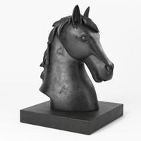 3d horse head