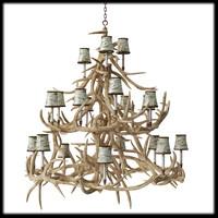 chandelier deer horns