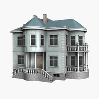 house 2 floors 3d model