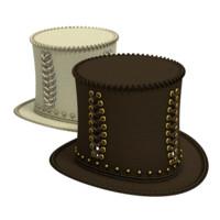 obj steampunk cylinder hat