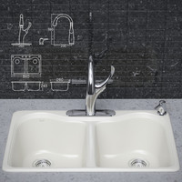 Kitchen faucet and sink KOHLER