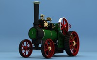 steam tractor minnie 3d model
