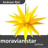 3d model moravian star