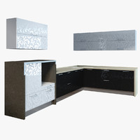 3d model kitchen cabinets