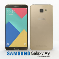 3d model samsung galaxy a9 2016
