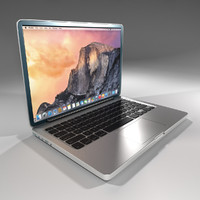 3d model mac macbook 2015