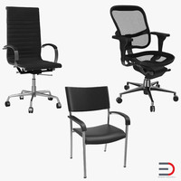 office chairs 3d max