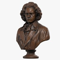 3d model of bust beethoven