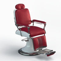 3d model barber chair legacy