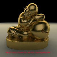 chinese buddha kid 3d model