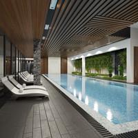 3d model of pool scene