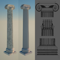 3d greek column 1 ionic
