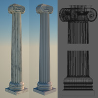 3d greek column 2 ionic model