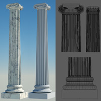 greek column 3 ionic 3d model