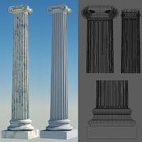 greek column 3 ionic 3d model