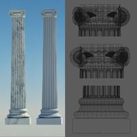 Ionic Corner Column 4