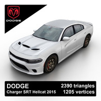 2015 dodge charger srt 3d model