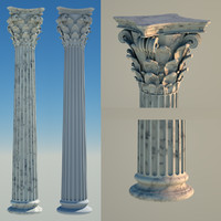 3d model greek column 8 corinthian