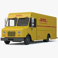 dhl delivery truck van 3d max