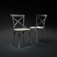 3d model madeleine-fabric-side-chair