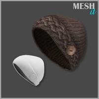 3d hat knit model