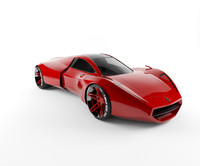 concept mid-engine sportcar 3d model