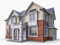 3d model of ms12 cottage houses