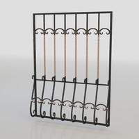 3d model windows bars